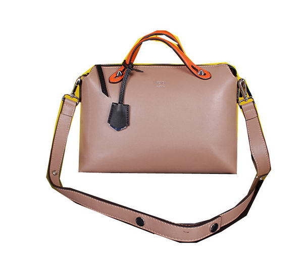 Fendi Fall Winter 2015 Tote Bags Calfskin Leather FD2351 Apricot