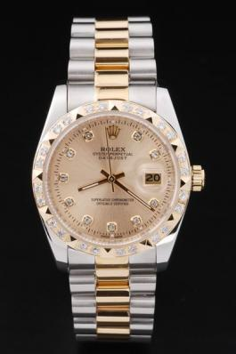 Rolex Datejust Diamond Bzel Stainless Steel Watch-RD2410