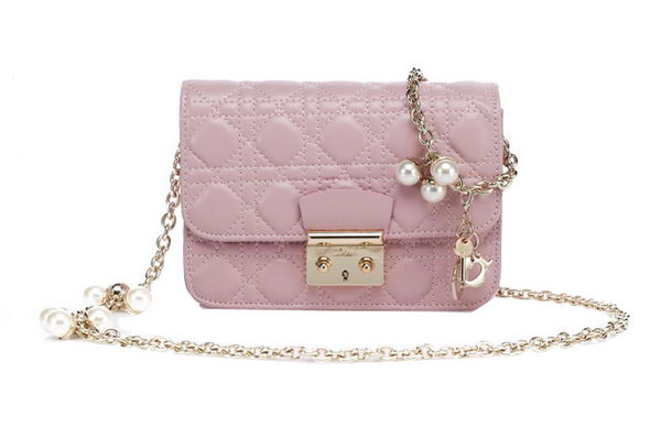 MISS DIOR Shoulder Bag in Lambskin Leather CD6331 Light Pink