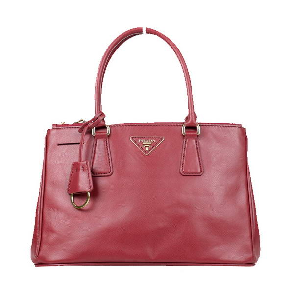 Prada Saffiano Calf Leather Totes BN1801 Red