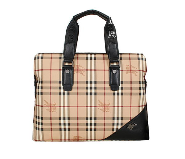 Burberry Haymarket Check Mens Briefcase 8539 Black