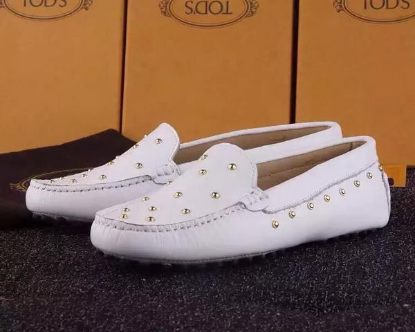 Tods Ballerina Flat Leather TO280 White