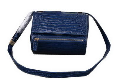 Givenchy Box Bag Croco Leather G9986 Royal