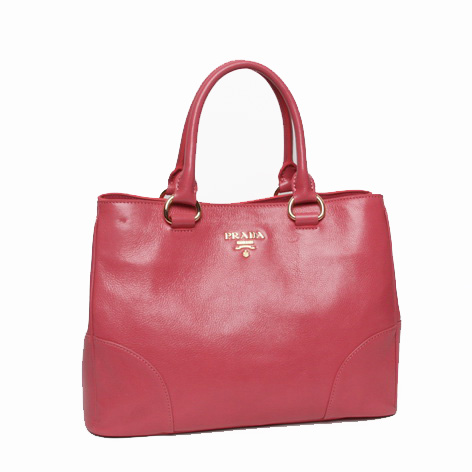 Prada Bright Leather Tote Bag BN2533 Pink