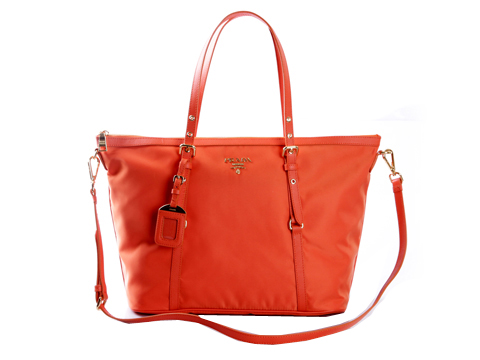 Prada Tessuto Nylon Large Shopping Tote Bag BR4253 Orange