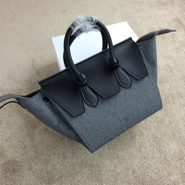Celine Tie Nano Top Handle Bag Flannelette 98313 Grey