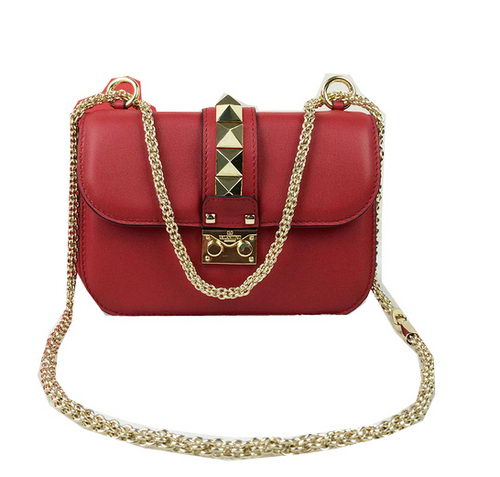 Valentino Garavani Shoulder Bags Calfskin Leather VO1915 Red