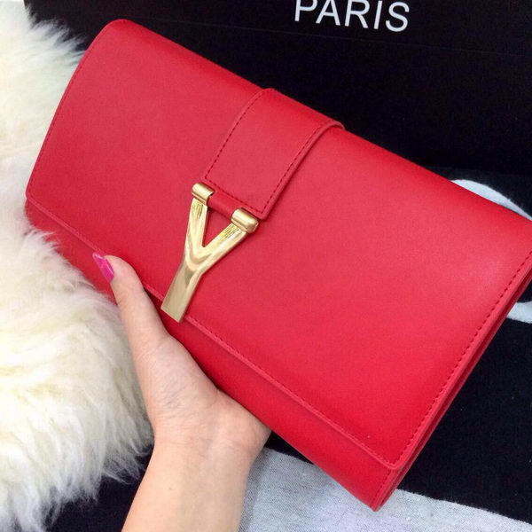 YSL Chyc Travel Case Original Leather 302101 Red