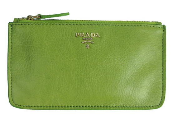 Prada Nappa Leather Clutch Bag 1M1152 Green