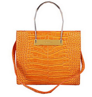 Balenciaga Cable Shopper S Bag Croco Leather B2251 Orange