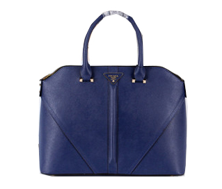 Prada Saffiano Leather Tote Bag BL3988 Royal