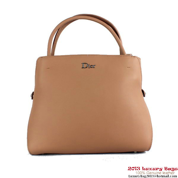 Dior Spring Summer 2013 Calfskin Top Handle Bag Apricot
