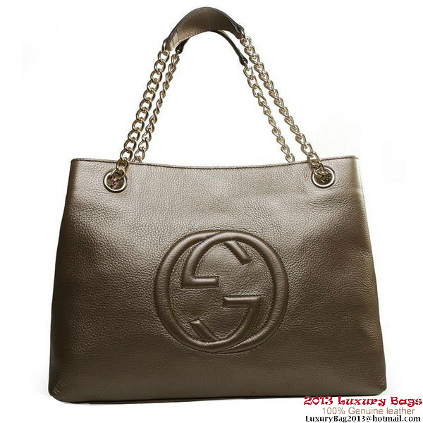 Gucci Soho Medium Tote Bag 308982 Bronze