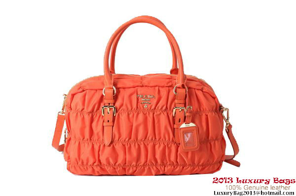 Prada Gaufre Fabric Top Handle Bag BN0759 Orange