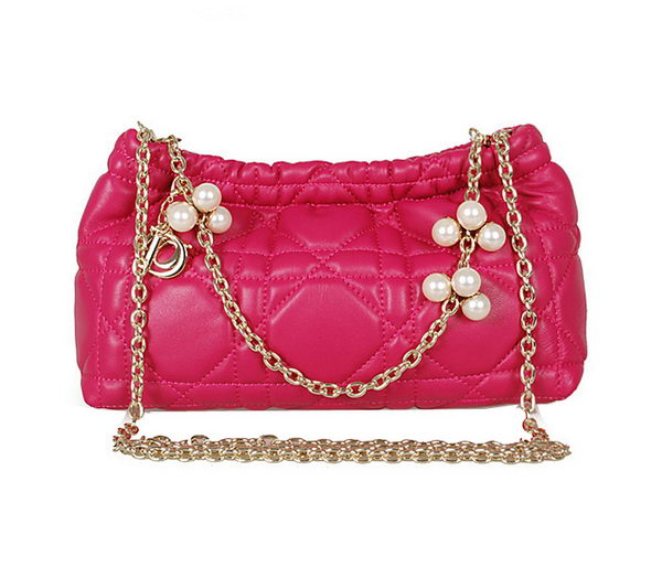 Dior Chain Shoulder Bag in Sheepskin Leather D0910 Rose