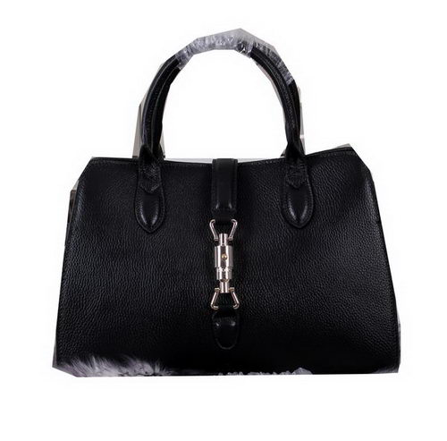 Gucci Jackie Soft Leather Top Handle Bag 365460 Black