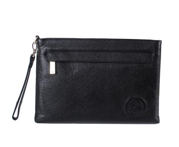 Gucci Grainy Leather Clutch 20221 Black