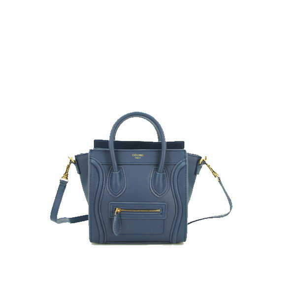 Celine Luggage Nano Bag Original Leather CL88029 Royal