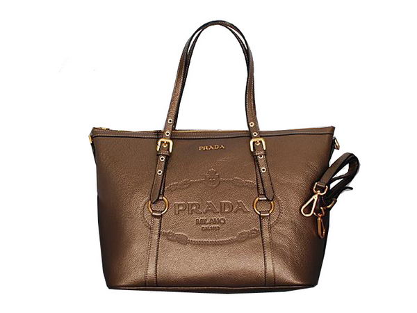 Prada Shoulder Bags Calf Leather BL8503 Bronze