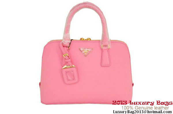 PRADA BL0837 Peach Saffiano Leather Two Handle Bag
