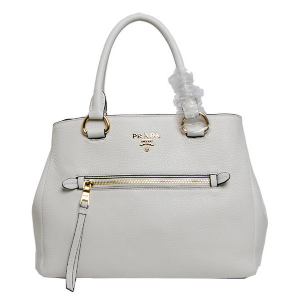 Prada Grainy Leather Tote Bags BN2793 White