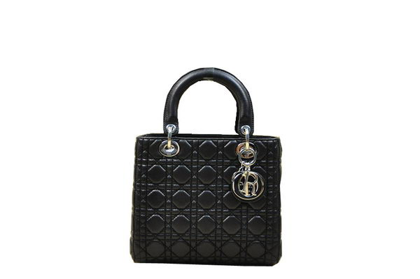 Christian Dior Original Leather Mini Lady Dior Bag 6826 Black