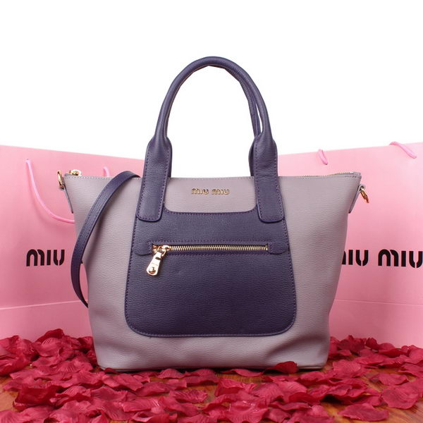 miu miu Original Goat Leather Tote Bag 88028 Lavender