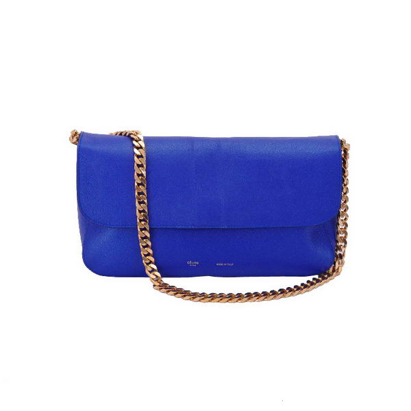 Celine Gourmette Small Bag in Ferrari Leather Royalblue