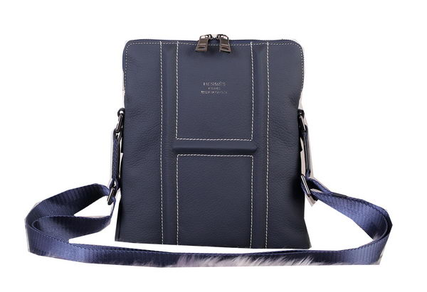 Hermes Messenger Bag Original Grainy Leather H3083 Royal