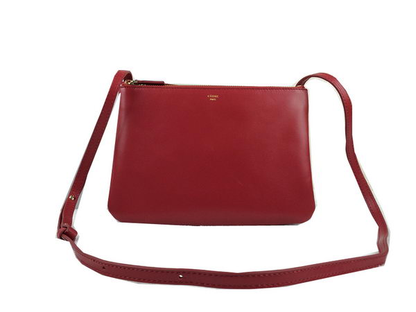 Celine Trio Original Leather Shoulder Bag C98318 Burgundy