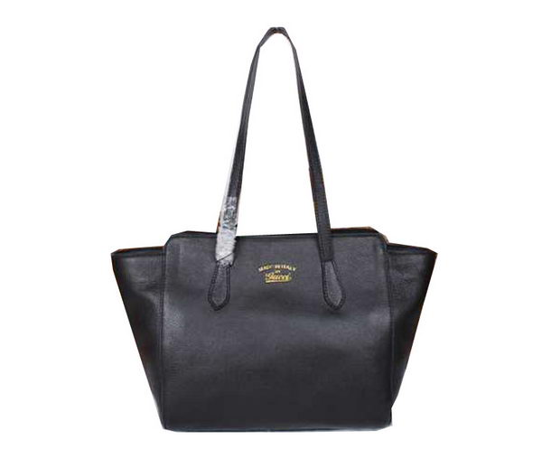 Gucci Swing Leather Tote Bag 354408 Black