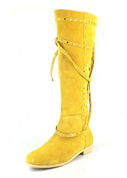 Jimmy Choo Walk Suede Knee-High Boots Yellow
