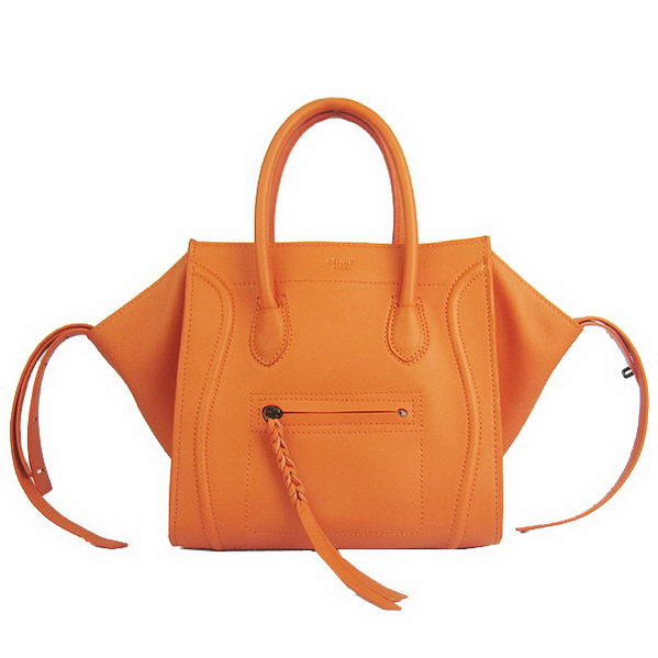 Celine Small Phantom Bags Original Calfskin Leather C1890 Orange