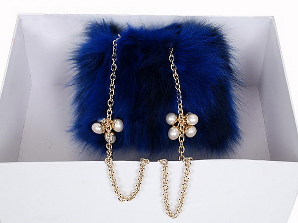 Dior Hobo Bag in Otter Hair 2015 Blue