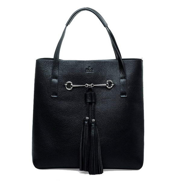 Hot products Gucci Park Avenue Leather Horsebit Tote Bag 297006 BNK1G 1000 Black