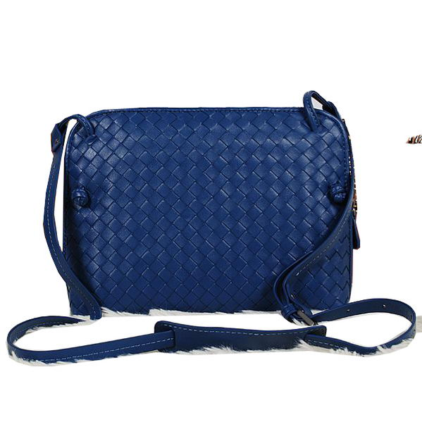 Bottega Veneta Intrecciato Nappa Cross Body Bag BV1515 RoyalBlue