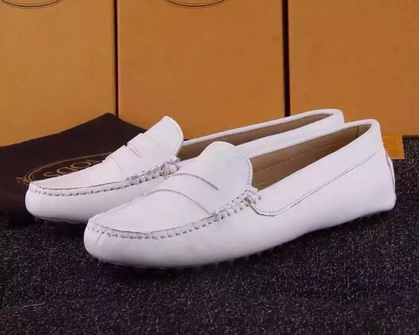 Tods Ballerina Flat Leather TO284 White