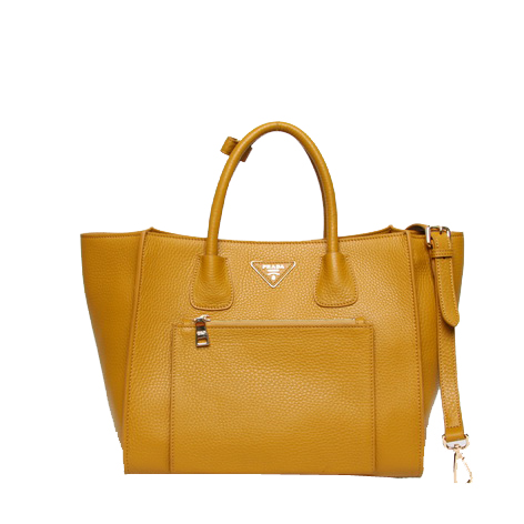Prada Original Grainy Calf Leather Tote Bag BN2626 Wheat