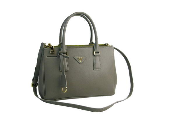 Prada Classic Saffiano Leather Medium Tote Bag BN1801 Light Grey