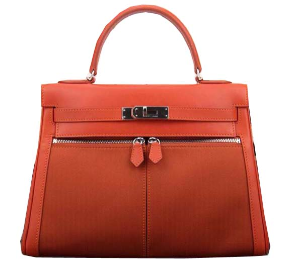 Hermes Kelly Lakis Tote Bag H3658 Orange