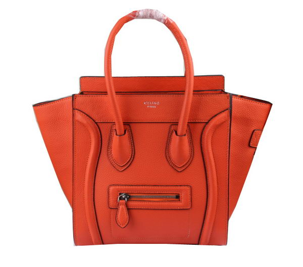 Celine Luggage Micro Boston Bag Clemence Leather CT33081 Orange