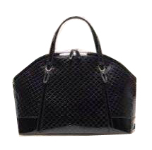Gucci Nice Patent Microguccissima Top Handle Bag 309614 Black