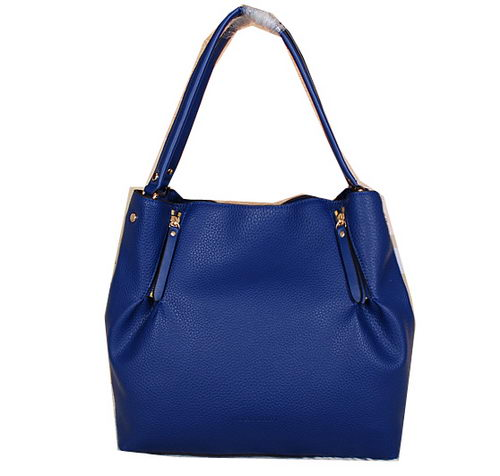 BurBerry Grainy Leather Shoulder Bag B8191 Blue