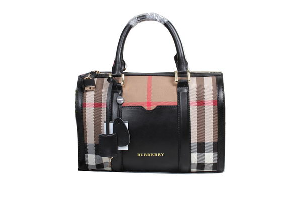 BurBerry House Check Bowling Bag 98151 Black
