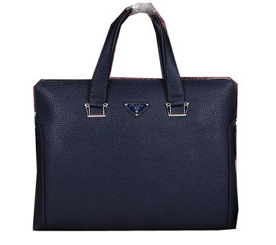 PRADA Grainy Leather Business Briefcase GG8802 Royal