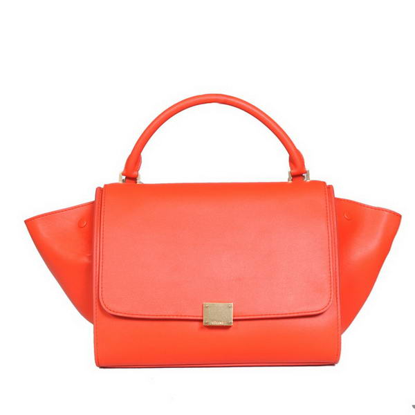 Fashion Celine Trapeze Bags Calf Leather C008 Light Red