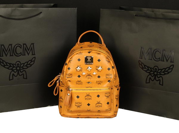 MCM Stark Backpack Medium in Calf Leather 8003 Camel