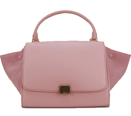 Celine Nubuck Leather Trapeze Bag CL88037 Pink