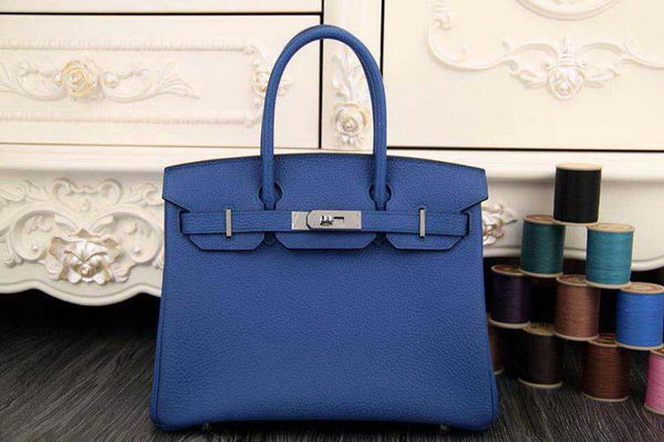 Hermes Birkin 35CM 30CM Tote Bag Original Leather HB35O Blue