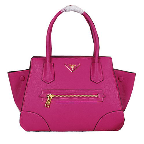 PRADA Grainy Calfskin Leather Tote Bag BN8256 Rose